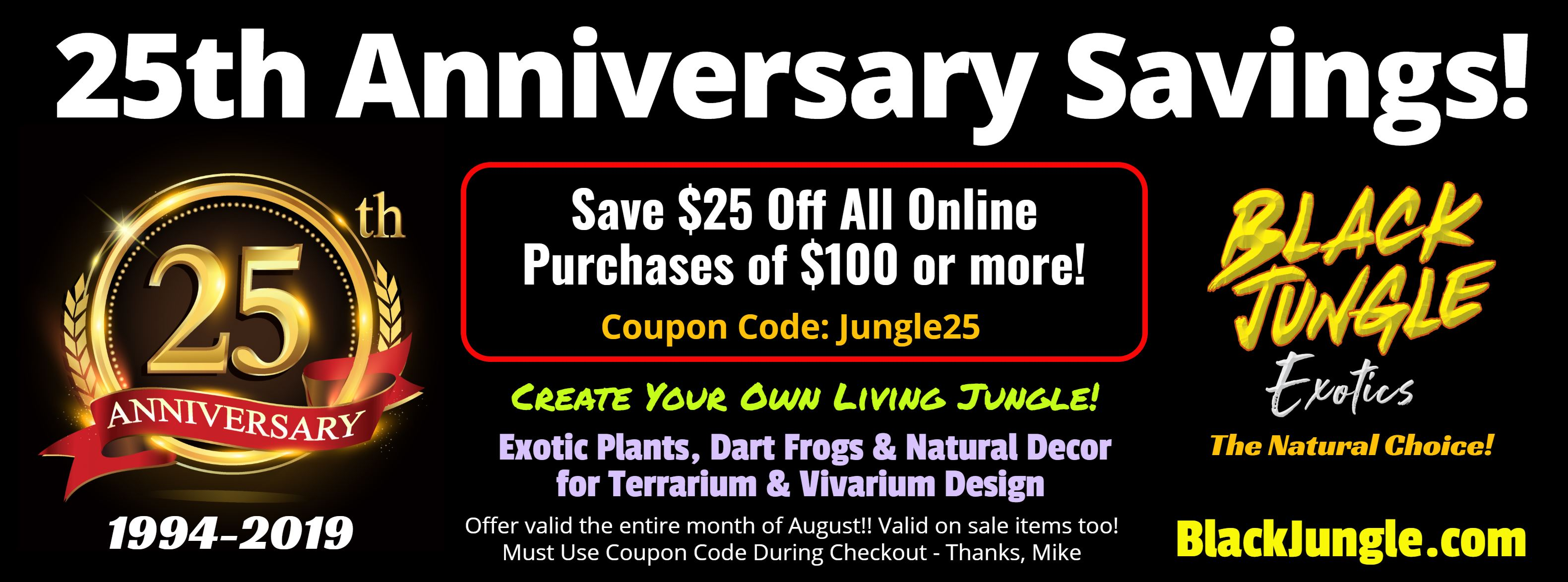 Welcome! You have discovered Black Jungle Exotics - The Natural Choice!!