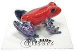 Porcelain Frog Figurine - Oophaga pumilio 'Blue Jeans' or 'Strawberry Dart Frog'