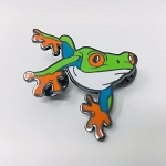 Enamel Lapel Pin - Red Eye Tree Frog #1