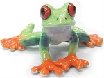 Porcelain Frog Figurine - Agalychnis callidryas 'Red-eyed Tree Frog' (medium)